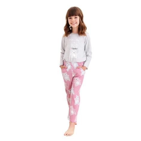 Dívčí pyžamo Sofia šedé medvídek Taro