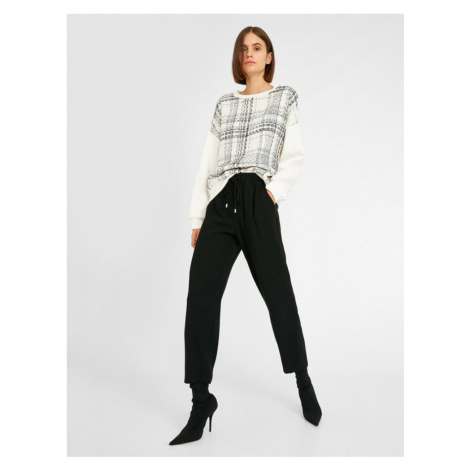 Koton Women Black Lace Up Trousers