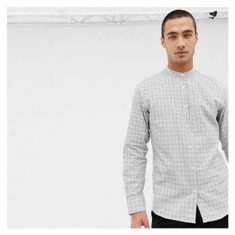 Šedá kostkovaná košile Gab Slim Selected