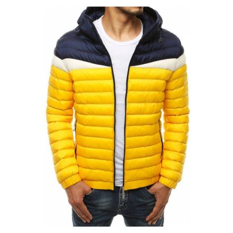 Dstreet Prošívaná žlutá bunda s kapucí