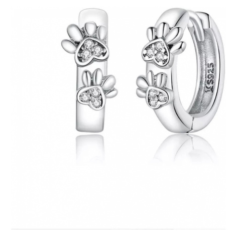Linda's Jewelry Stříbrné náušnice Ťapky malé kruhy Ag 925/1000 IN170