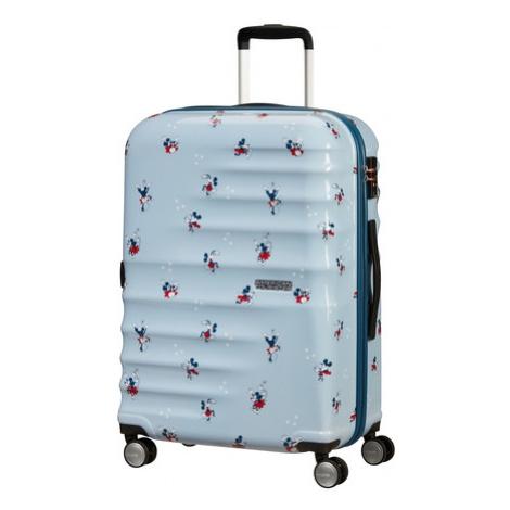 AT Dětský kufr Wavebreaker Disney Spinner 67/26 Minnie Darling Blue, 47 x 26 x 67 (85670/8695) American Tourister