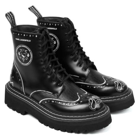 Kotníková Obuv Karl Lagerfeld Patrol Ii Brogue Lace Boot - Černá