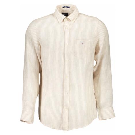 GANT košile s dlouhým rukávem Barva: Béžová