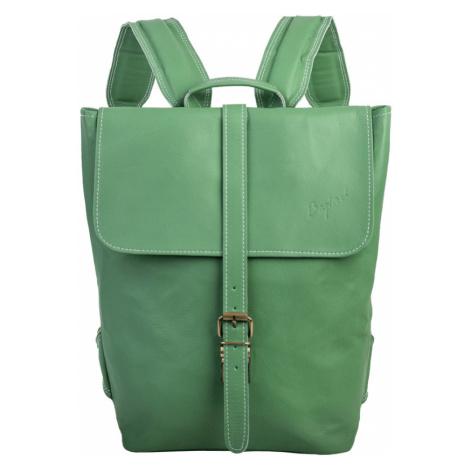 Bagind Hezkey Jungle - Dámský i pánský kožený batoh světle zelený, ruční výroba, český design