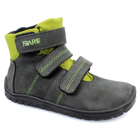 boty Fare B5526261 s membránou šedé se zelenou (bare)