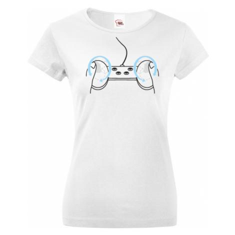 Dámské tričko s vtipným potiskem Playstation BezvaTriko