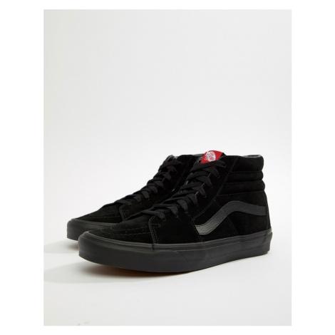 Vans Sk8-Hi suede trainers in black