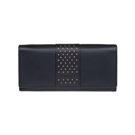 Lagen V-15 černá přírodní dámská kožená peněženka Černá