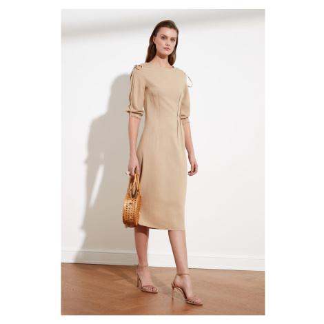 Trendyol Camel Shoulder Detailed Dress