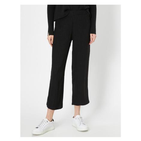 Koton Women Brown Straight Cut Trousers
