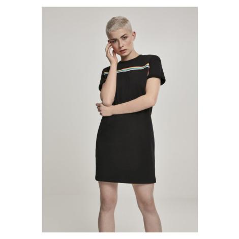 Ladies Multicolor Taped Terry Dress Urban Classics