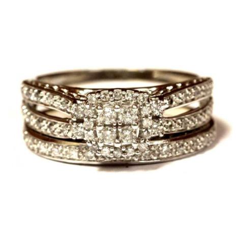 AutorskeSperky.com - 14 kt luxusní zlatý zásnubní a snubní prsten s brilianty 0.50 kt - S5810