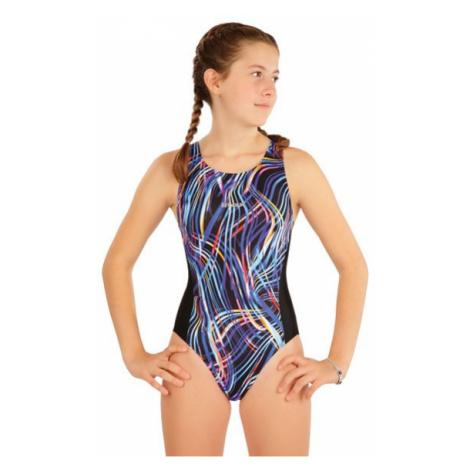 Dívčí jednodílné plavky sportovní Litex 63632   vzorované