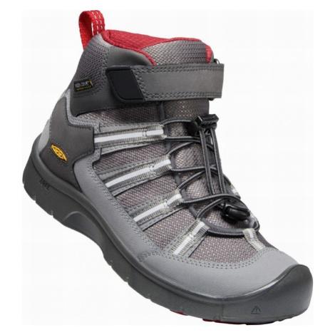Dětské boty Keen Hikeport II Sport Mid WP Y magnet/chilli pepper