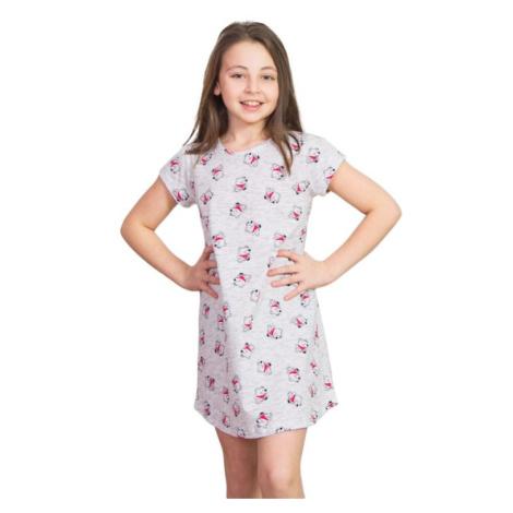 Dívčí noční košile Lucky Bear méďa šedá Vienetta Secret