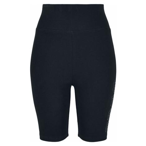 Urban Classics Ladies High Waist Branded Cycle Shorts Kraťasy černá