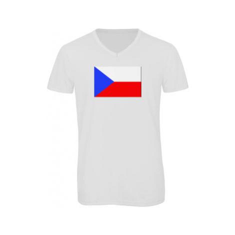 Pánské triko s výstřihem do V Česká republika
