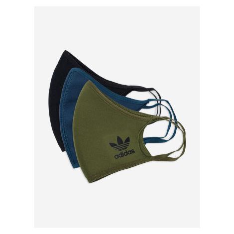 Rouška 3 ks adidas Originals Zelená