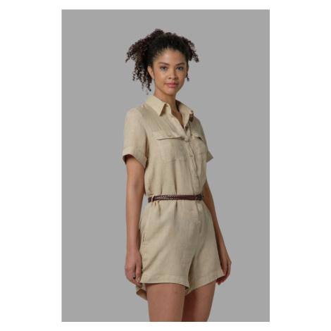 Overal La Martina Woman Short Dresses Light Line - Hnědá
