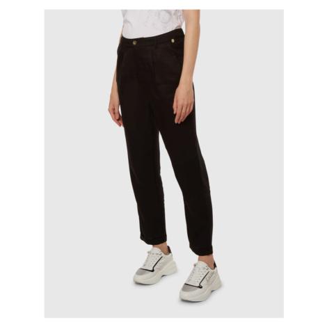 Kalhoty La Martina Woman Tencel Chino Pant - Černá