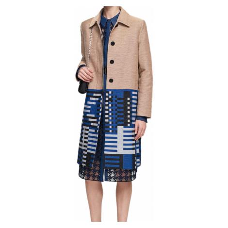 Béžový kabát KARL LAGERFELD