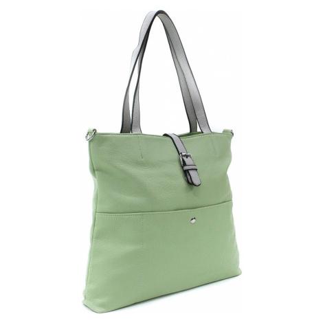 Světle zelená elegantní velká dámská kabelka Moreen L a H - Miss Moda (PL)
