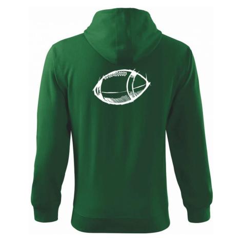 Americký fotbal míč skica - Mikina s kapucí na zip trendy zipper