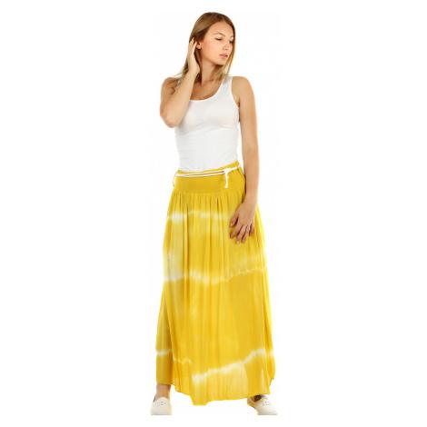 Dlouhá dámská letní sukně s batikou