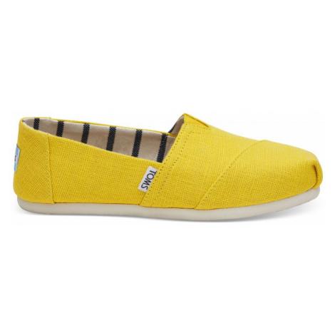 BOTY TOMS ALPARGATA WMS - žlutá