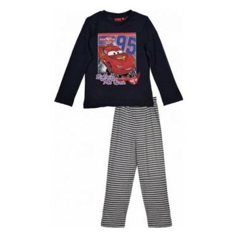 Cars - chlapecké černé pyžamo s dlouhým rukávem Disney