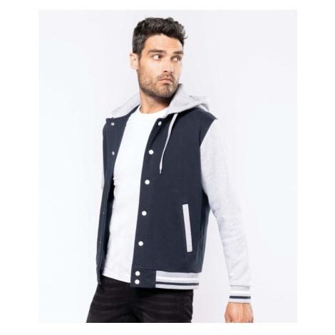 Baseball pánská bunda s kapucí, XXXL, námořnická modrá