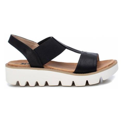 XTi Dámské sandále Black Pu Combined Ladies Sandals Black