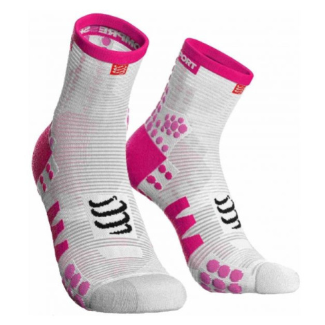 Compressport RACE V3.0 RUN HI světle růžová - Běžecké ponožky
