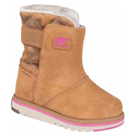 Sorel YOUTH RYLEE CAMO hnědá - Dětské zimní boty