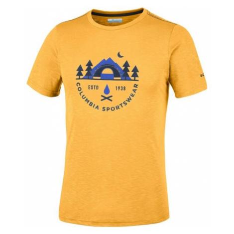 Columbia NELSON POINT GRAPHIC SHORT SLEEVE TEE žlutá - Pánské triko