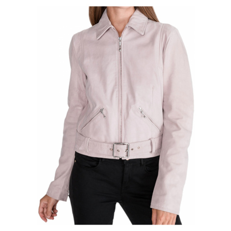 Růžová kožená bunda JUST CAVALLI