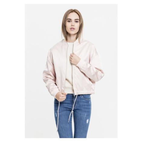 Ladies Satin Kimono Blouson - light pink Urban Classics
