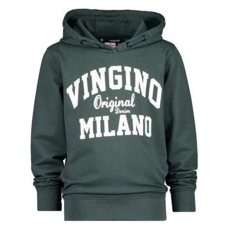 VINGINO Mikina tmavě zelená / bílá