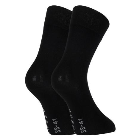 Ponožky Gino bambusové bezešvé černé (82003) S