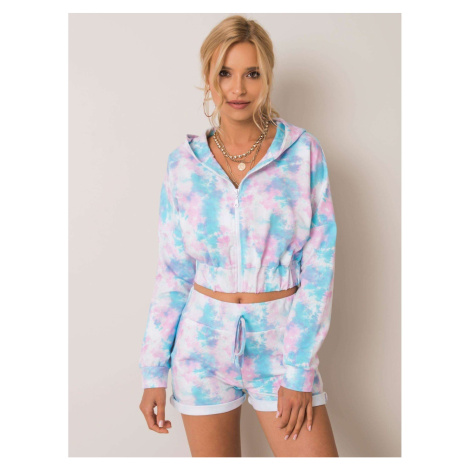 RUE PARIS Blue and pink sweatshirt set Fashionhunters