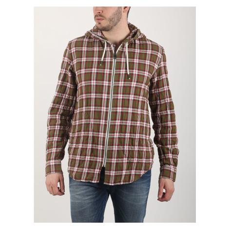 Košile Diesel S-HOODZIP TOP Hnědá