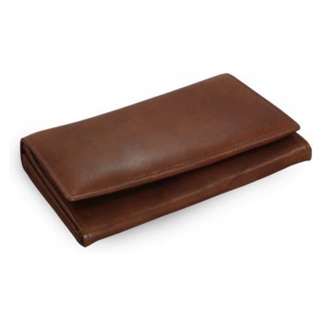 Tmavě hnědá dámská kožená psaníčková peněženka Esmel Arwel