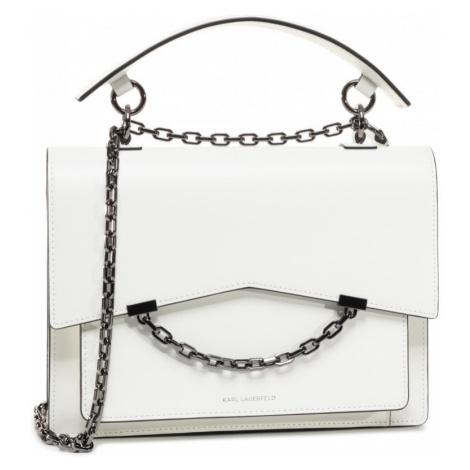 Bílá kožená kabelka - KARL LAGERFELD
