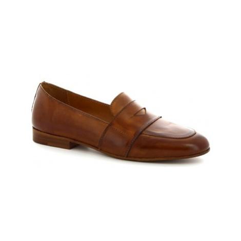 Leonardo Shoes K 104 CUOIO Hnědá