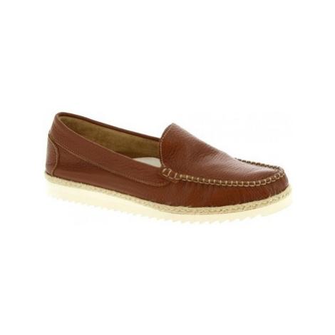 Leonardo Shoes 239 VITELLO WOODY Hnědá