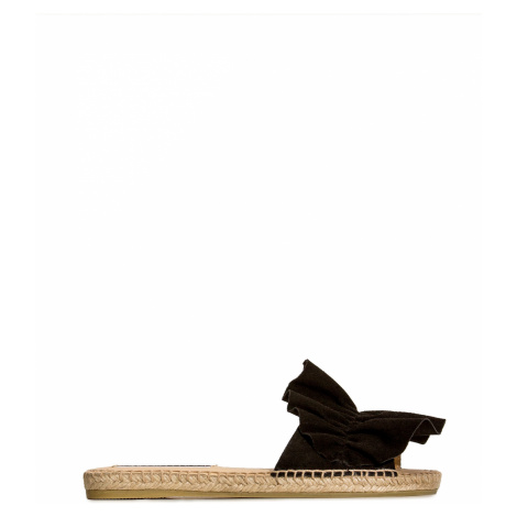 Pantofle SERGIO ROSSI x MANEBI černá