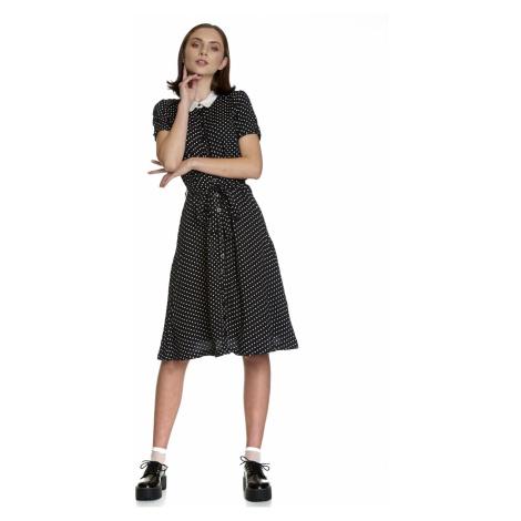 Stylové pin-up šaty černé s límečkem a puntíky Vive Maria My Italian Love