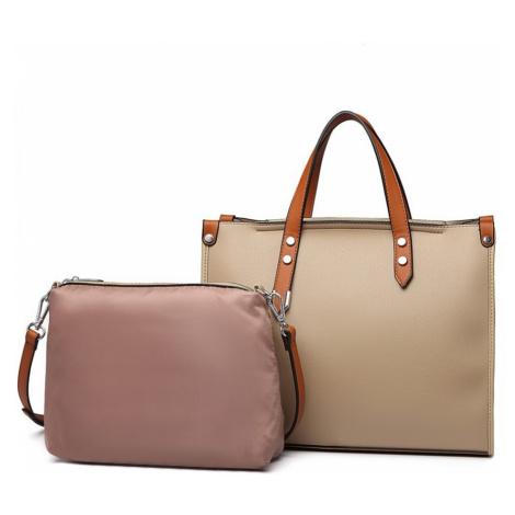 Tmavě béžová dámská elegantní kabelka 2v1 Afea Lulu Bags