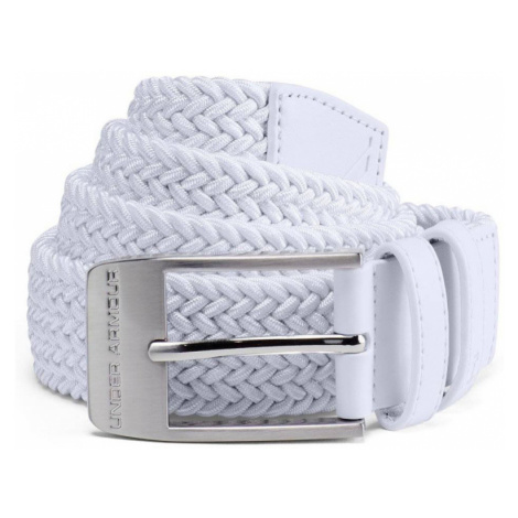 Under Armour Braided 2.0 Belt Pánský pásek 1306538-100 White